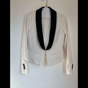 Ann Taylor White blazer with Black lapel